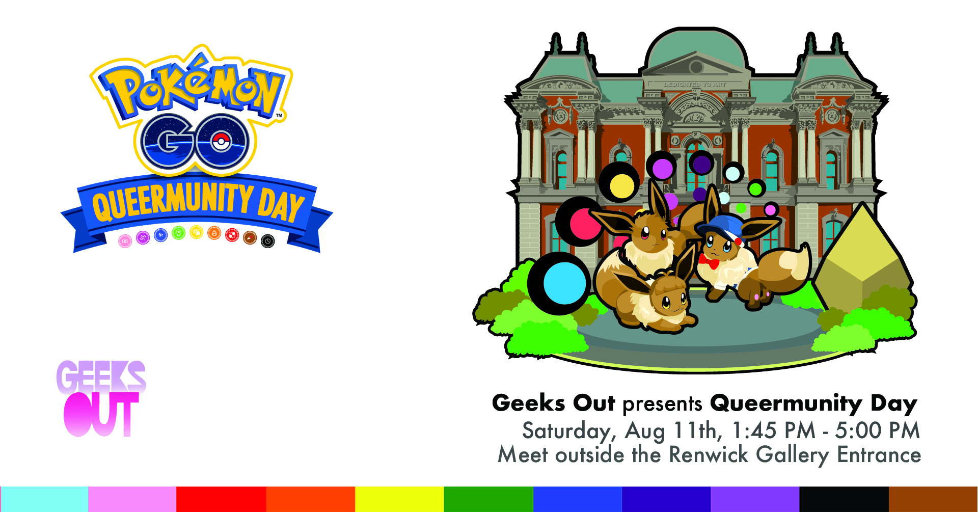 Geeks OUT DC – Pokemon Go Queermunity Day, Renwick Gallery