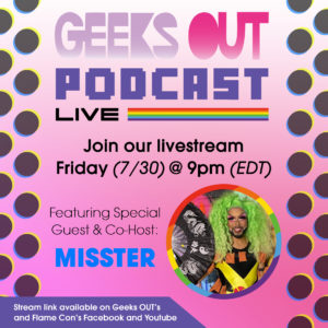 The Geeks OUT Podcast: Dipping into the Live-Stream